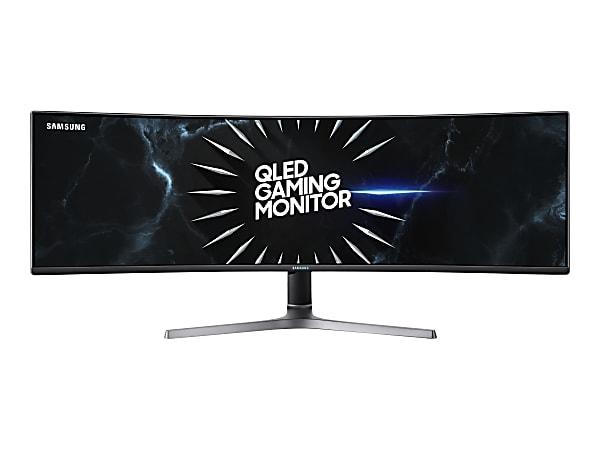 "Samsung CRG9 49"" Dual Quad HD QLED LCD Monitor, HDMI, DisplayPort C49RG90SSN"