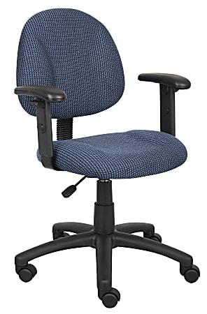 Boss Posture Mid-Back Task Chair, Black/Blue