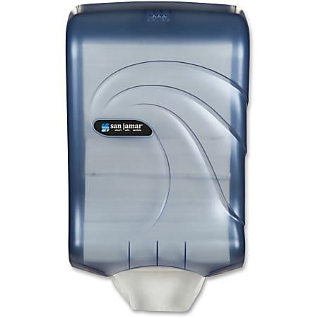"San Jamar High Cap Ultrafold Towel Dispenser - C Fold, Multifold Dispenser - 450 C Fold, 750 Multifold - 18"" Height x 11.8"" Width x 6.3"" Depth - Plastic - Arctic Blue - Durable, Impact Resistant, Hands-free, Touch-free, Break Resistant"
