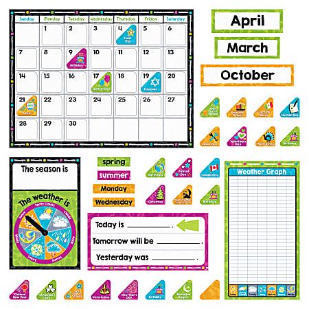 Trend Color Harmony Calendar Bulletin Board Set, Assorted Colors
