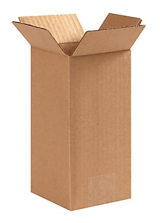 "Office Depot® Brand Corrugated Cartons, 4"" x 4"" x 8"", Kraft, Pack Of 25"