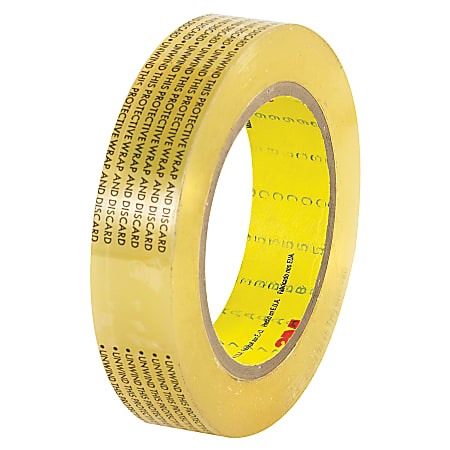 """3M™ 665 Double Sided Film Tape, 1"""" x 72 Yd., Clear, Case Of 36"""