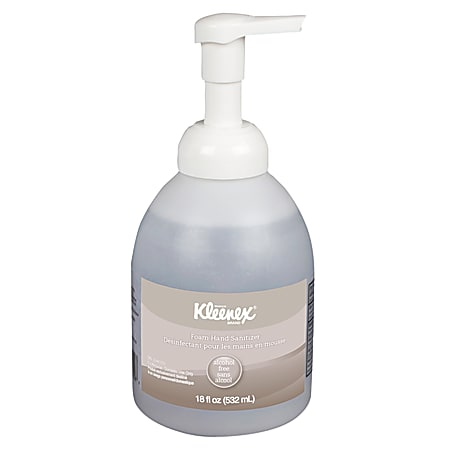 Kleenex® Ultra Moisturizing Foam Hand Sanitizer, Unscented, 18 Oz,