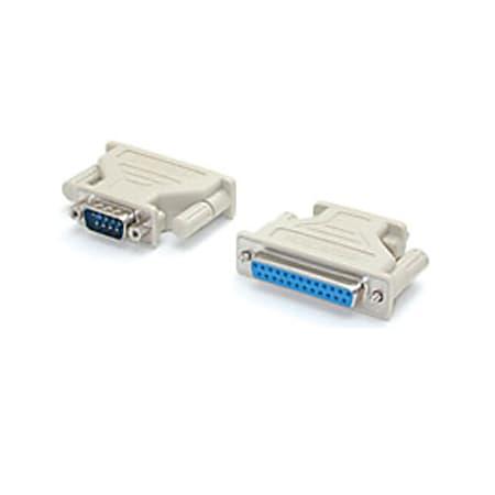 StarTech.com DB9 to DB25 Serial Adapter - M/F - 1 x DB-9 Male - 1 x DB-25 Female