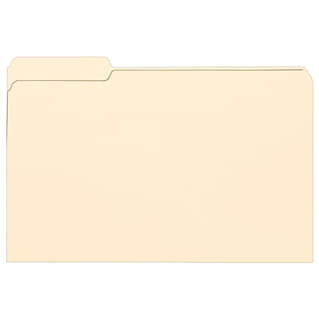 Smead® Selected Tab Position Manila File Folders, Legal Size, 1/3 Cut, Position 1, Pack Of 100