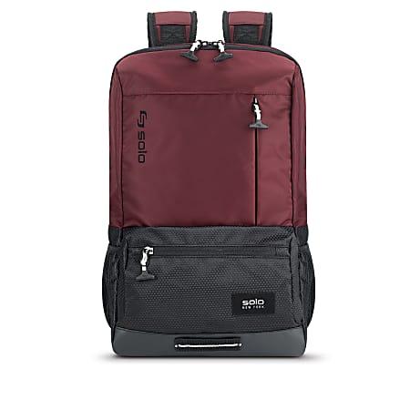 Solo Draft Laptop Backpack, Burgundy