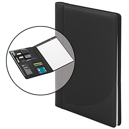 "Office Depot® Brand Padfolio With Calculator, 12-1/4""H x 9-3/4""W, Black"