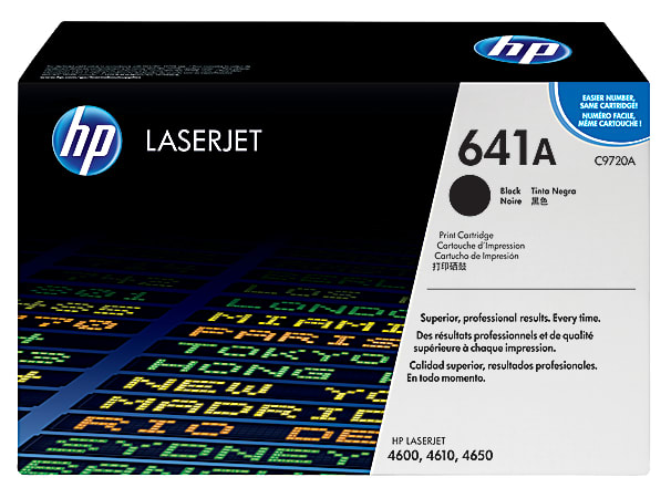 HP 641A, Black Original Toner Cartridge (C9720A)
