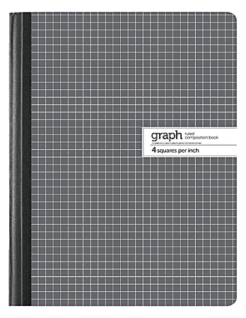 """Office Depot® Brand Composition Book, 7 1/2"""" x 9 3/4"""", Quad Ruled, 100 Sheets"""