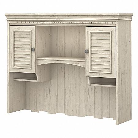"Bush Furniture Fairview Hutch for Computer Desk, 48""W, Antique White, Standard Delivery"