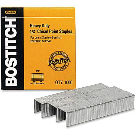 """Stanley Bostitch® Heavy-Duty Premium Staples, 1/2"""", Box Of 1000"""