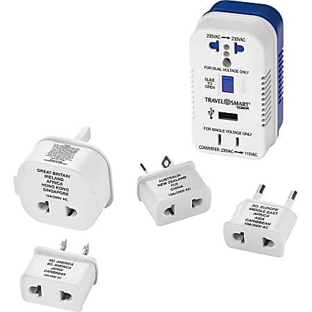 Travel Smart 1875-Watt High-Power Converter for Single-Voltage Devices