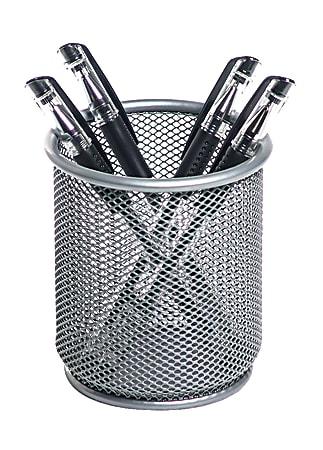 Brenton Studio® Silver Mesh Pencil Cup