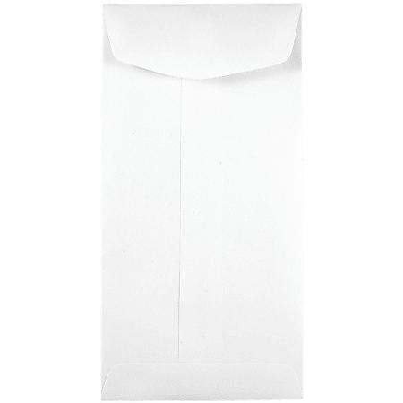 JAM Paper® Coin Envelopes, #7, Gummed Seal, White, Pack Of 250 Envelopes