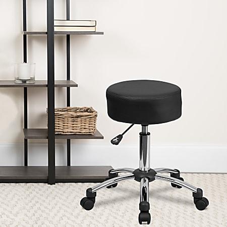 Flash Furniture Medical Ergonomic Stool, Black/Silver