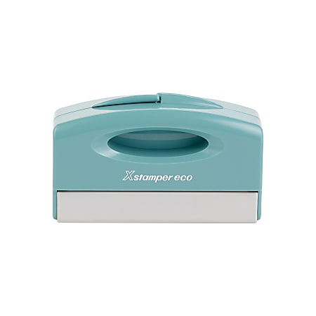 """Custom ECO-GREEN Xstamper® Pre-Inked Signature Stamp, N42, 78% Recycled, 5/8"""" x 2-3/8"""" Impression"""