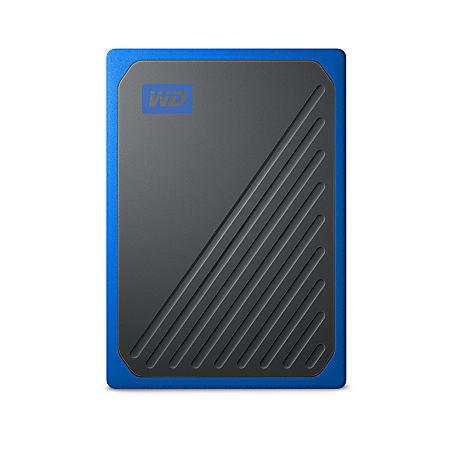 Western Digital® My Passport Go Portable External Solid State Drive, 2TB, WDBMCG0020BBT-WESN, Black/Cobalt