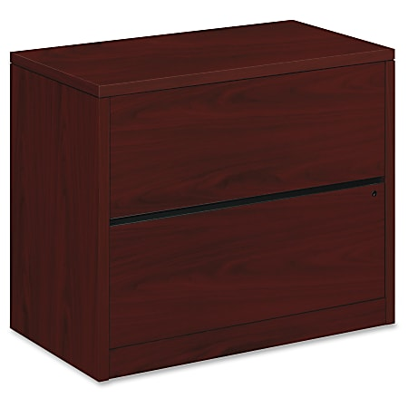 "HON® 10500 36""W Lateral 2-Drawer File Cabinet, Mahogany"