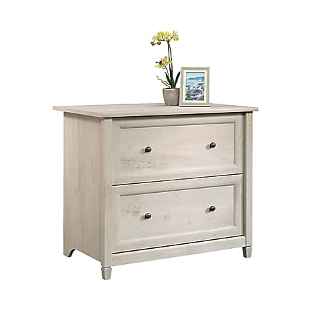 """Sauder® Edge Water 33""""W Lateral 2-Drawer File Cabinet, Chalked Chestnut"""