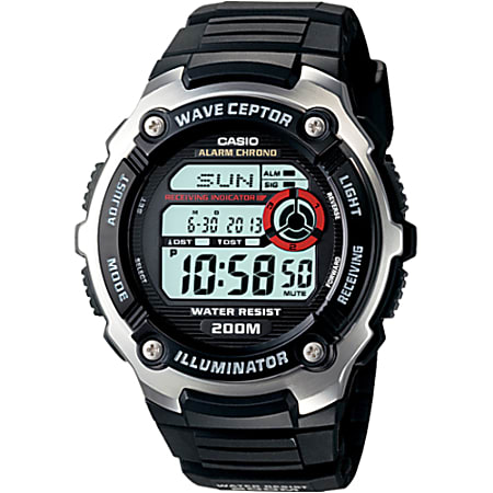 Casio wave ceptor WV200A-1AV Wrist Watch - Men - SportsChronograph - Digital - Quartz - Atomic