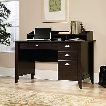 "Sauder® Shoal Creek 54""W Computer Desk With Organizer Hutch, Jamocha Wood"