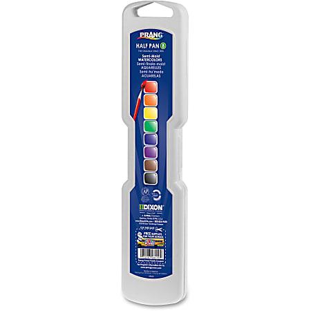 Prang® Watercolor Half Pan Set With Brush, Assorted, Set Of 8 Colors