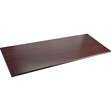 "Lorell® Laminate Table Top, 72""W x 30""D, Mahogany"