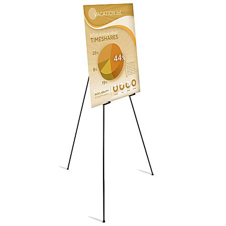 Office Depot® Brand Instant Display Easel, Full Size, Black
