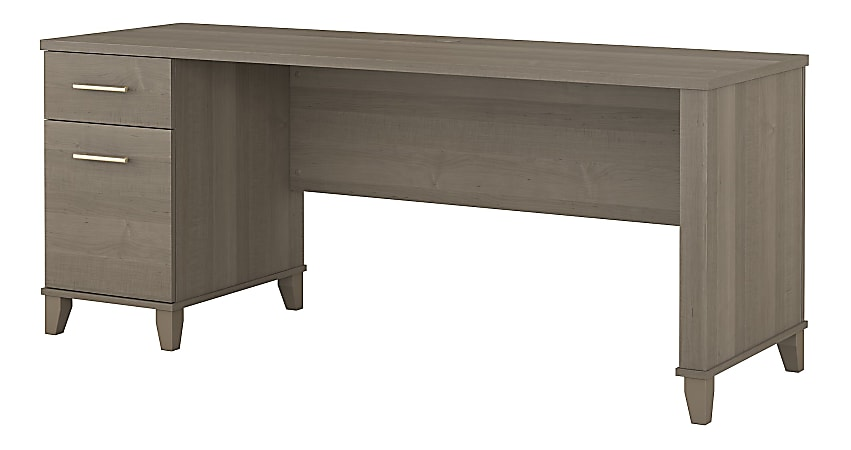 """Bush Furniture Somerset Office Desk With Drawers, 72""""W, Ash Gray, Standard Delivery"""