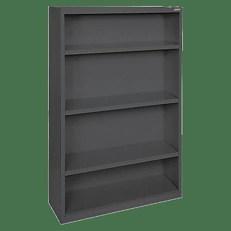 Lorell® Fortress Series Steel Bookcase, 4-Shelf, Black