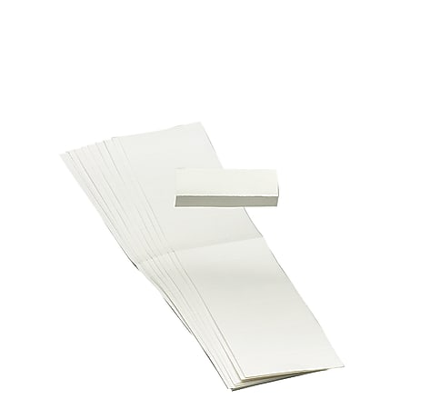 """Smead® Blank Hanging File Folder Tab Inserts, 1/5 Cut For 2"""" Tabs, Box Of 100"""