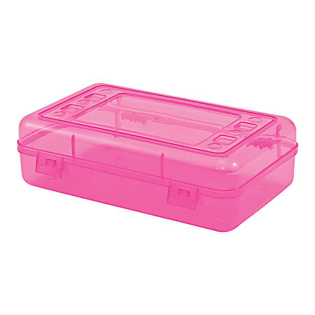 "Innovative Storage Designs Pencil Box, 8.3"" x 5.3"" x 2.5"", Assorted (no color choice)"
