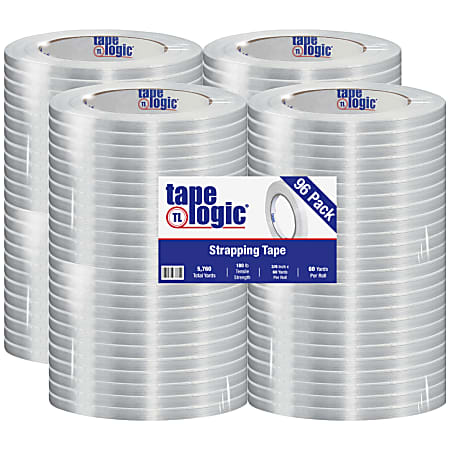"Tape Logic® 1400 Strapping Tape, 3/8"" x 60 Yd., Clear, Case Of 96"