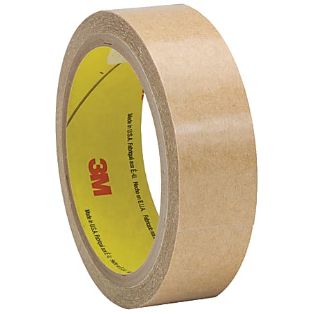 """3M™ 927 Adhesive Transfer Tape Hand Rolls, 3"""" Core, 1"""" x 60 Yd., Clear, Case Of 36"""