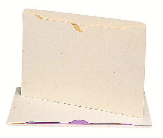"""Smead® Manila File Jackets, Reinforced Tab, 9 1/2"""" x 14 3/4"""", Pack Of 100"""