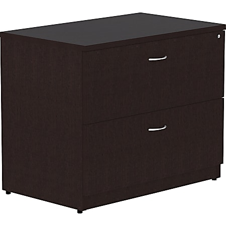 "Lorell® Essentials 30""W Lateral 2-Drawer File Cabinet, Espresso"