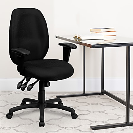 Flash Furniture Ergonomic Fabric High-Back Multifunctional Swivel Chair, Black