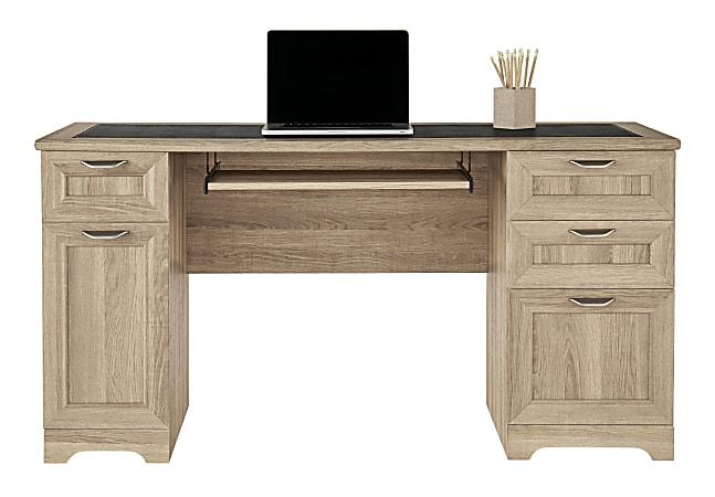 "Realspace® Magellan 59""W Computer Desk, Blonde Ash"