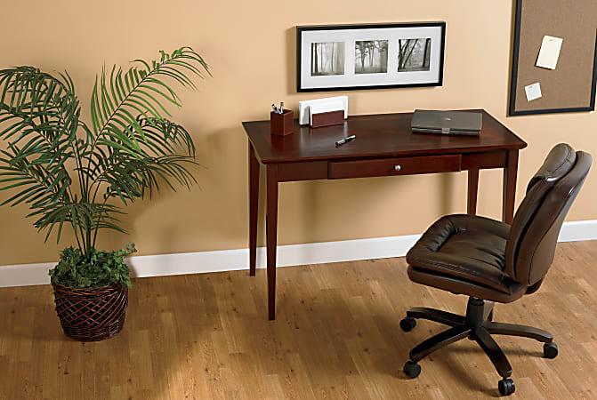 Realspace® Inlay Writing Desk, Light Cherry