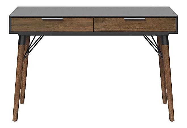 "Elle Décor® Dani 47""W Writing Desk, Old World Rustic Pine/Dusk Gray"