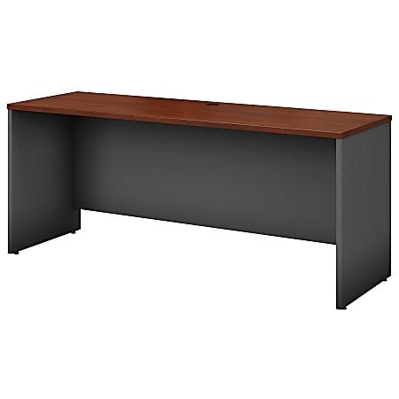 """Bush Business Furniture Components Credenza Desk 72""""W x 24""""D, Hansen Cherry/Graphite Gray, Standard Delivery"""