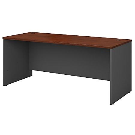 "Bush Business Furniture Components 72""W Computer Desk, Hansen Cherry/Graphite Gray, Standard Delivery"