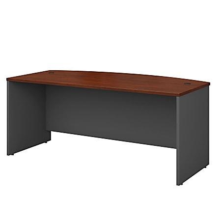 "Bush Business Furniture Components Bow Front Desk, 72""W x 36""D, Hansen Cherry/Graphite Gray, Standard Delivery"