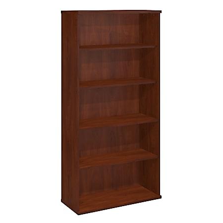 "Bush Business Furniture Components 5 Shelf Bookcase, 36""W, Hansen Cherry, Standard Delivery"