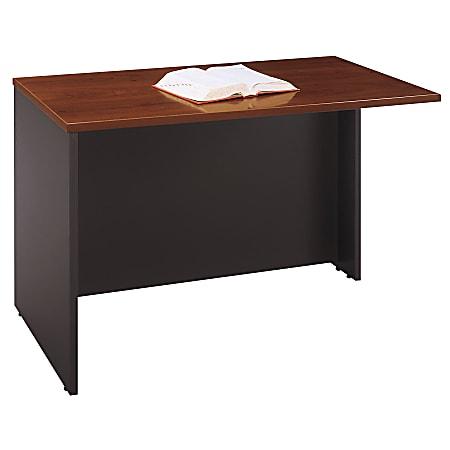 "Bush Business Furniture Components Return Bridge, 48""W, Hansen Cherry/Graphite Gray, Standard Delivery"