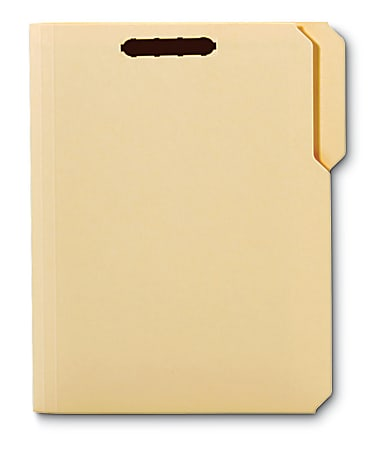 Office Depot® Brand Reinforced Manila Folder With 2 Embossed Fasteners, 1/3-Cut Tabs, Letter Size, Box Of 50