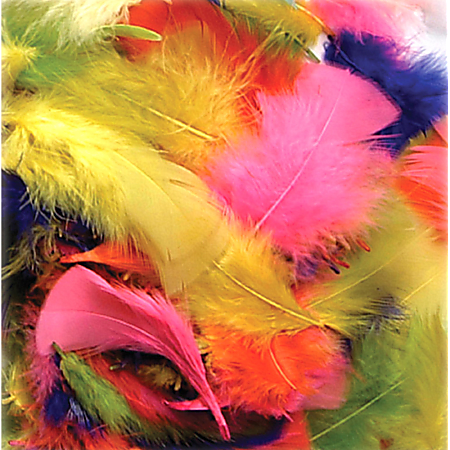 Creativity Street Chenille Kraft Bright Hues Feathers, Assorted Colors, 1 Oz