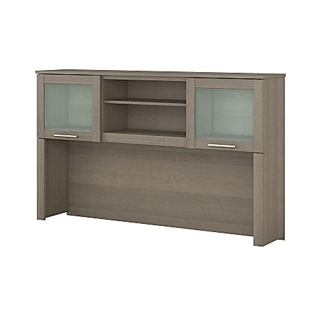 "Bush Furniture Somerset Hutch for L Shaped Desk, 60""W, Ash Gray, Standard Delivery"