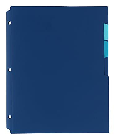 """Office Depot® Brand 4-Pocket Binder Folder, 8-1/2"""" x 11"""", 65-Sheet Capacity, Navy"""