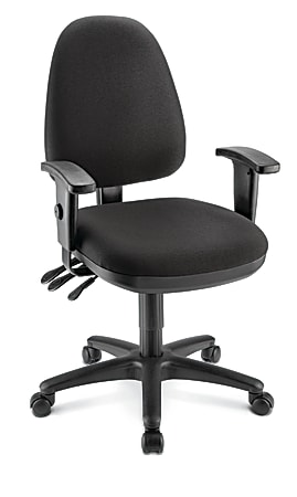 WorkPro® Patriot Multifunction Fabric Task Chair, Black